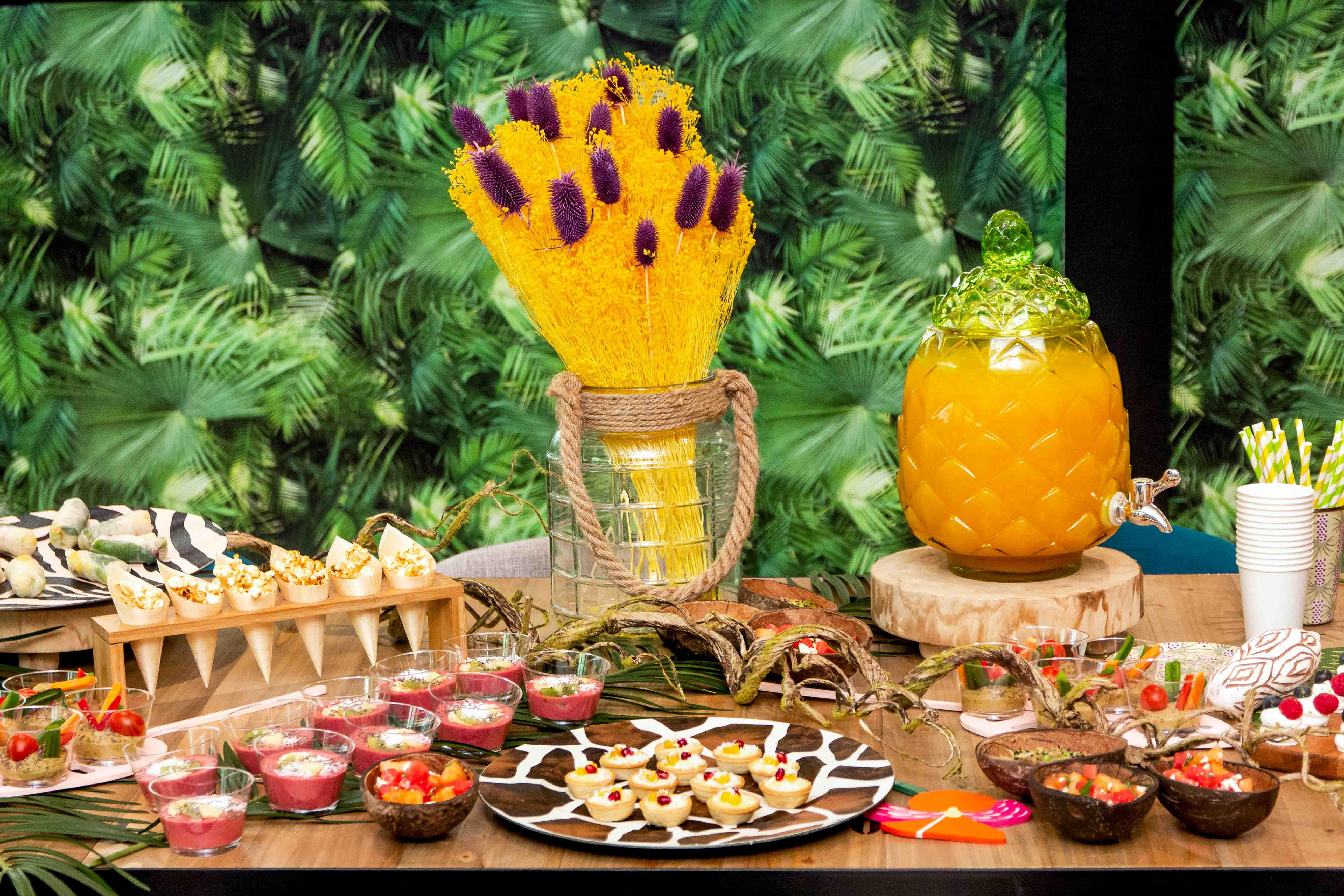 Buffet safari pour summer party entreprise été 2019