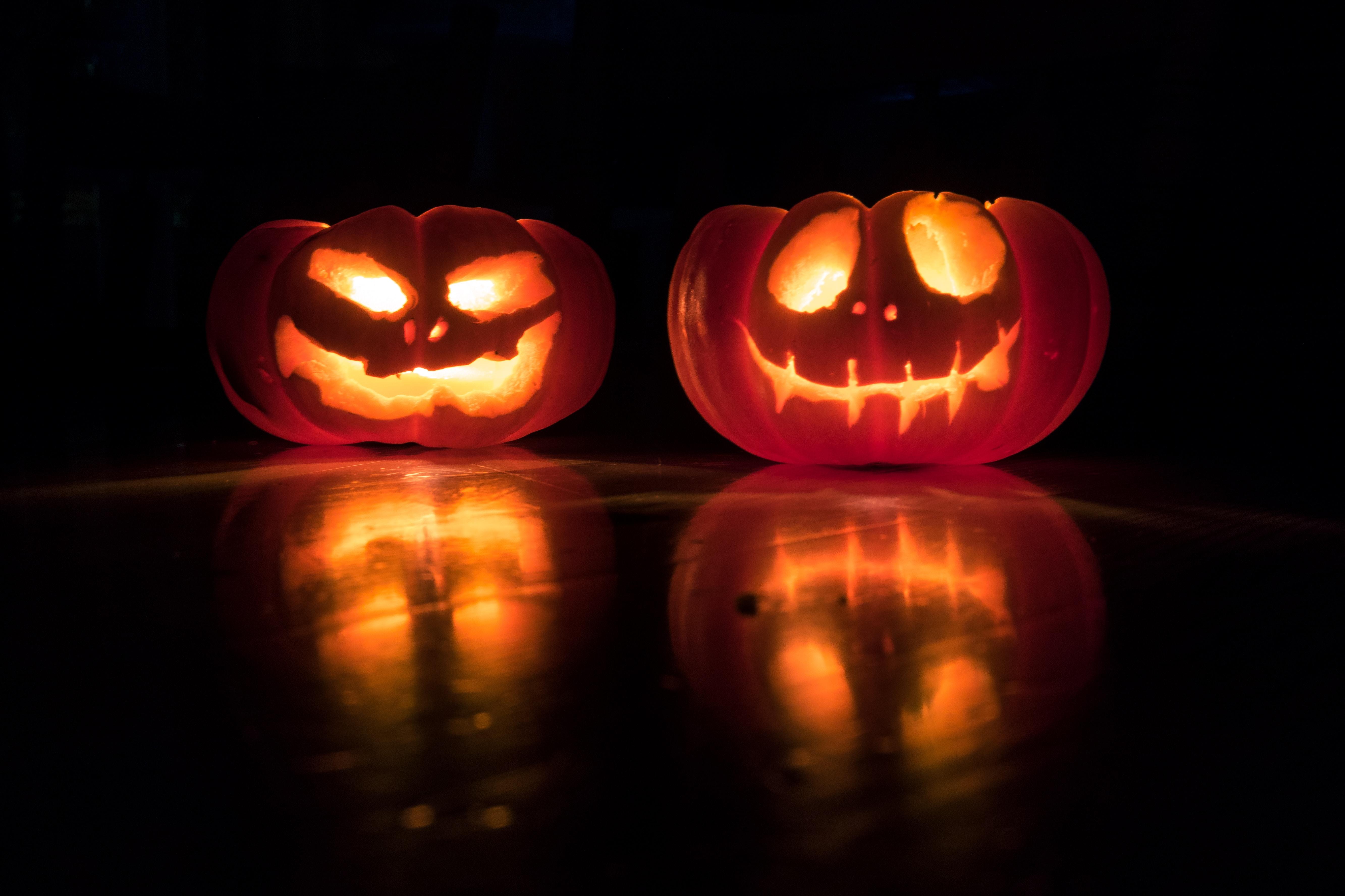 Citrouilles Halloween éclairées