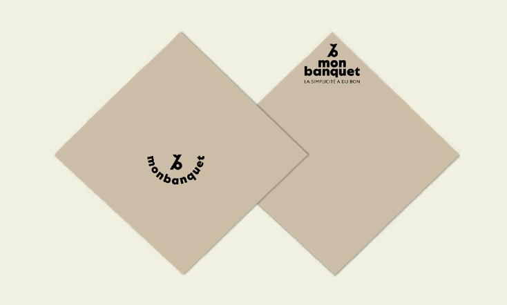 Monbanquet fait peau neuve :  Les nouvelles serviettes