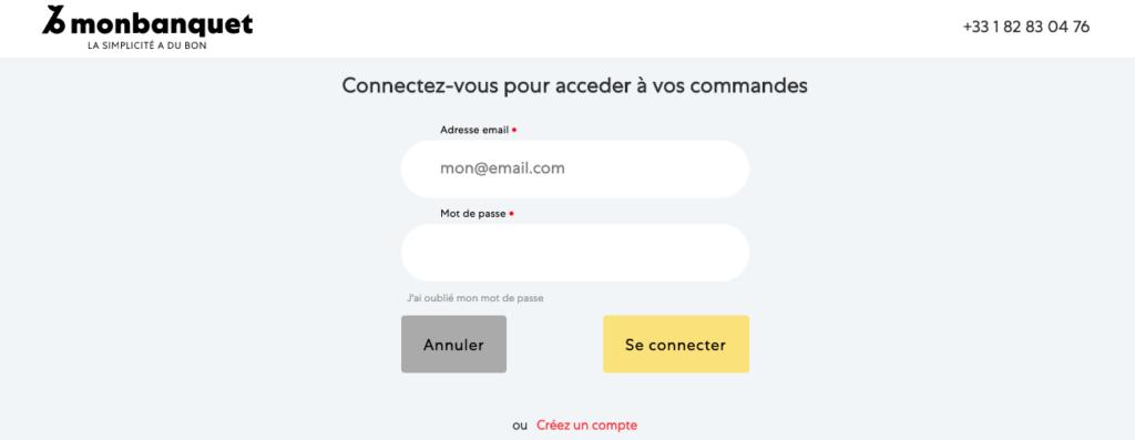 Espace client Monbanquet