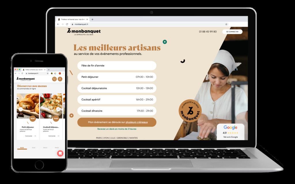 Monbanquet fait peau neuve : le nouveau site internet